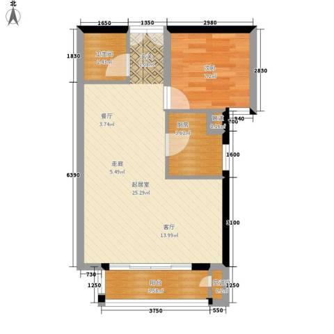 建投十号院1室0厅1卫1厨71.00㎡户型图
