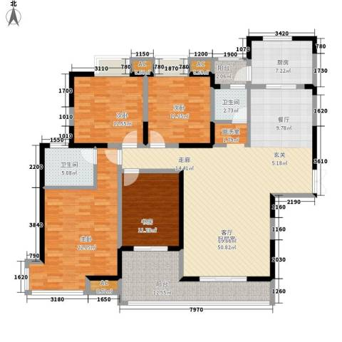 夏日景色4室0厅2卫1厨160.00㎡户型图