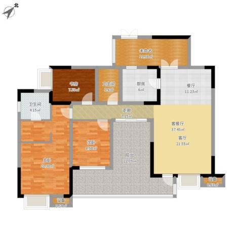 国电金海域3室1厅2卫1厨175.00㎡户型图