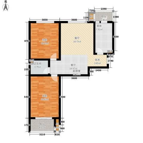 晶彩2室0厅1卫1厨99.00㎡户型图