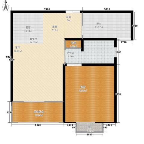 西桃园1厅1卫1厨134.00㎡户型图
