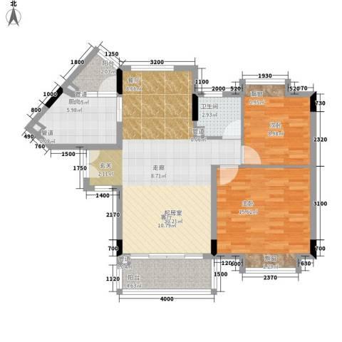 雅郡花园2室0厅1卫1厨101.00㎡户型图
