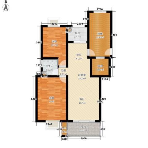 壹度恒园2室0厅1卫1厨100.25㎡户型图