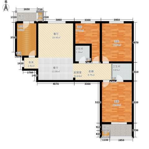 晶彩3室0厅2卫1厨132.00㎡户型图