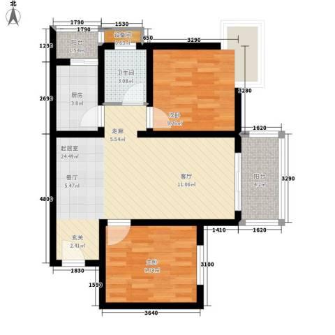 丰盛园2室0厅1卫1厨80.00㎡户型图