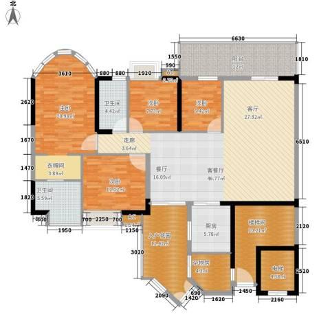 富力天河华庭4室1厅2卫1厨167.00㎡户型图