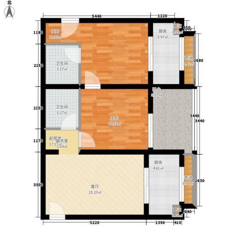 丰盛园2室0厅2卫2厨90.00㎡户型图
