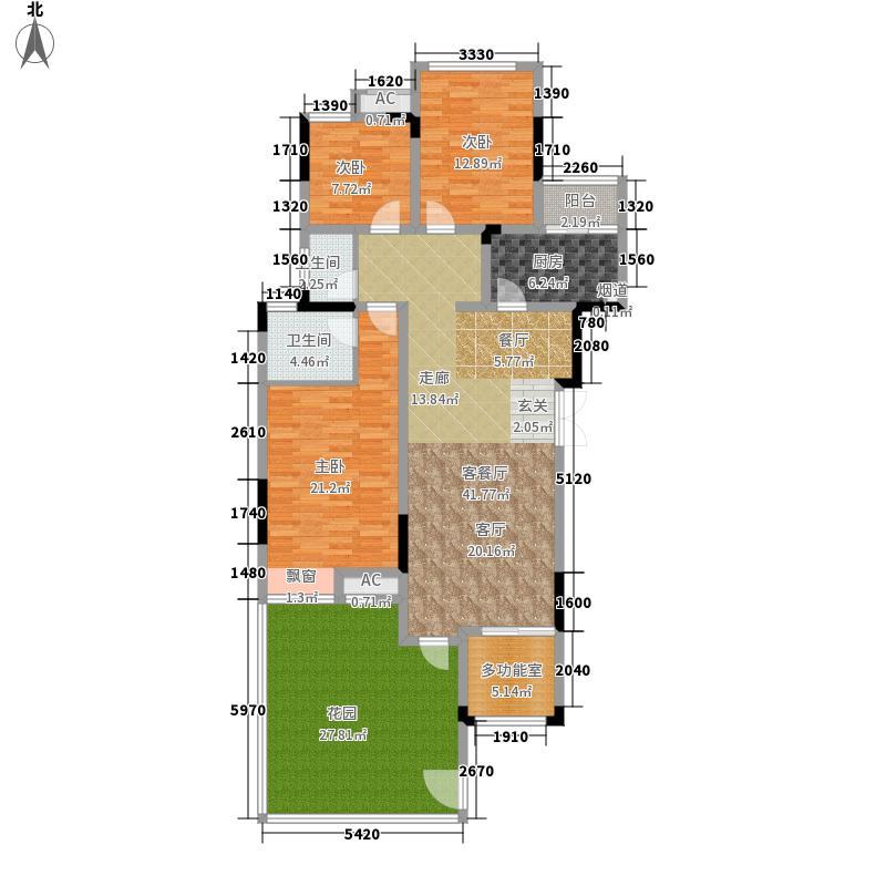 首信皇冠假日119.52㎡一期洋房9/10号楼标准层A2-1-1户型2室2厅