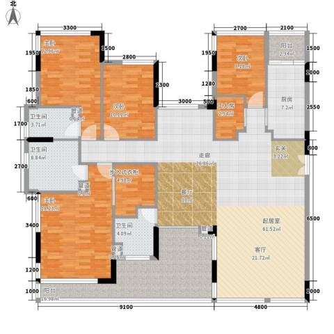 雅郡花园4室0厅3卫1厨224.00㎡户型图