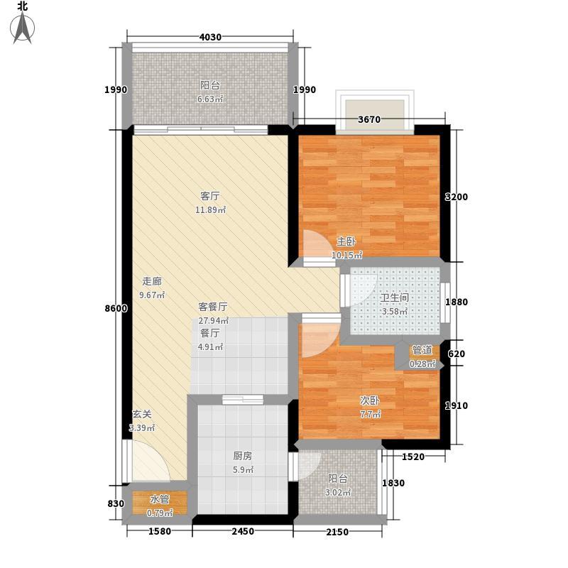 荷塘月色方圆清风居A栋3-10层两户型