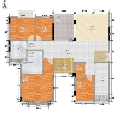 雅郡花园4室0厅2卫1厨186.00㎡户型图