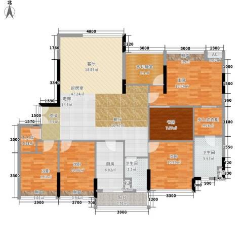 雅郡花园5室0厅2卫1厨161.00㎡户型图