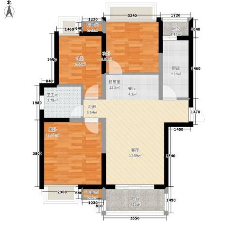 丰盛园3室0厅1卫1厨94.00㎡户型图