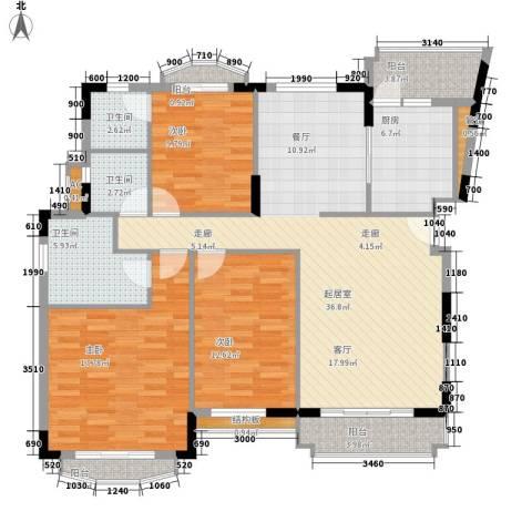 星河湾3室0厅3卫1厨130.00㎡户型图
