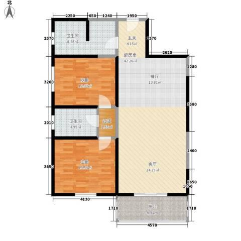 金街坊2室0厅2卫0厨92.00㎡户型图