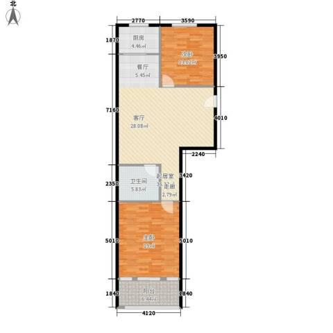 金街坊2室0厅1卫1厨91.00㎡户型图