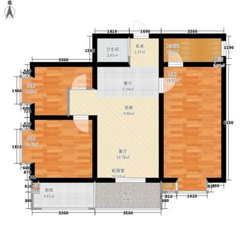 昌仁里小区3室0厅2卫1厨120.00㎡户型图