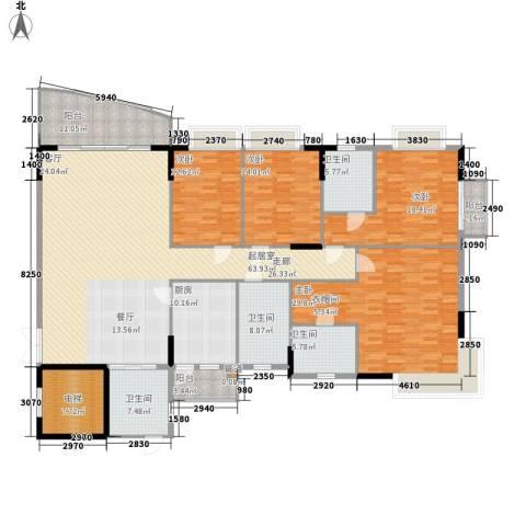 海龙湾4室0厅4卫1厨220.00㎡户型图