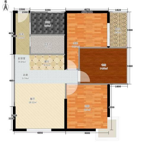 大话南门项目3室0厅1卫1厨113.00㎡户型图