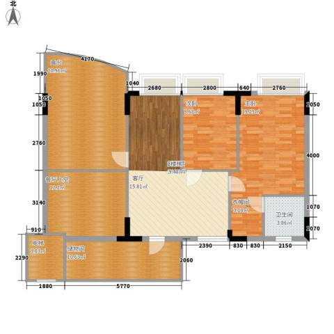 海龙湾2室0厅1卫0厨145.00㎡户型图