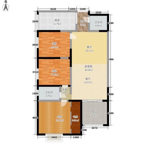 联盟新城3室0厅2卫1厨148.00㎡户型图