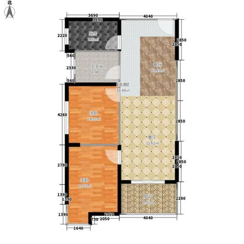 大话南门项目2室0厅1卫1厨106.00㎡户型图