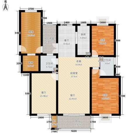 壹度恒园2室1厅2卫1厨140.82㎡户型图