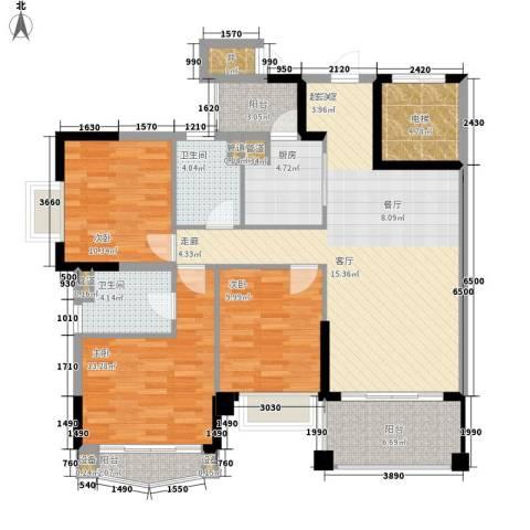 锦绣新天地3室0厅2卫1厨111.00㎡户型图