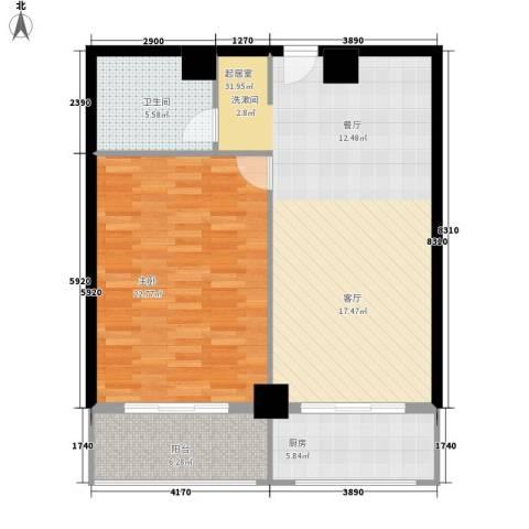 金街坊1室0厅1卫1厨81.00㎡户型图