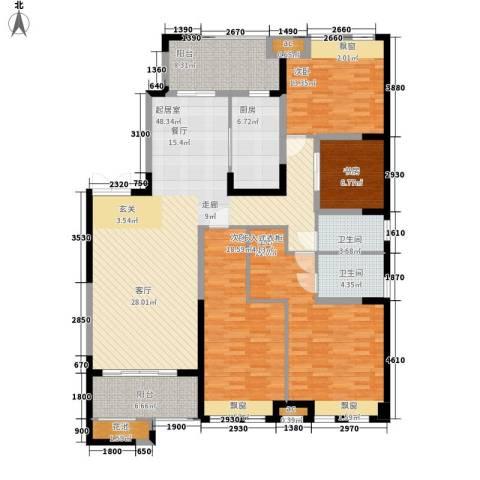 鸿基紫韵4室0厅2卫1厨190.00㎡户型图