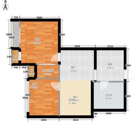 银星苑2室0厅1卫1厨66.00㎡户型图