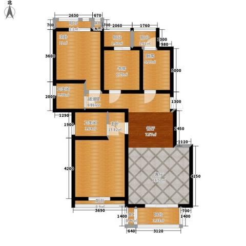 天下荣郡3室0厅2卫1厨108.00㎡户型图