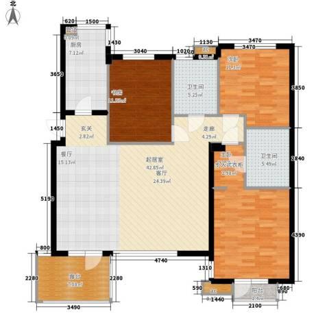 万科魅力之城3室0厅2卫1厨154.00㎡户型图