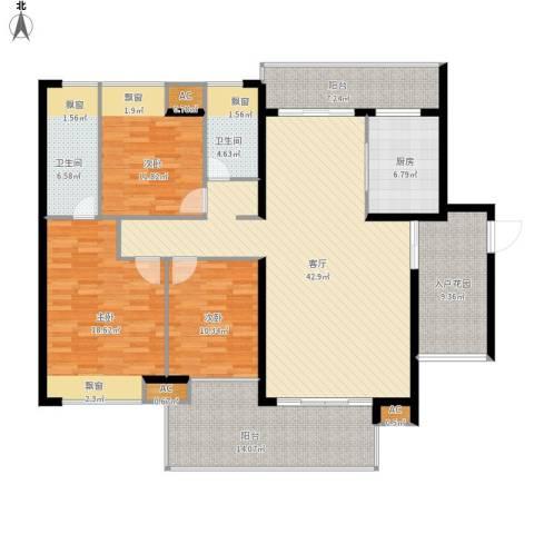 水映山花园3室1厅2卫1厨187.00㎡户型图
