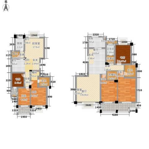 中江国际花城6室0厅1卫2厨130.00㎡户型图