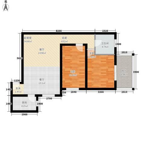 都市朝阳2室0厅1卫1厨104.00㎡户型图
