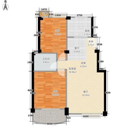 胥口新村2室0厅1卫1厨77.75㎡户型图