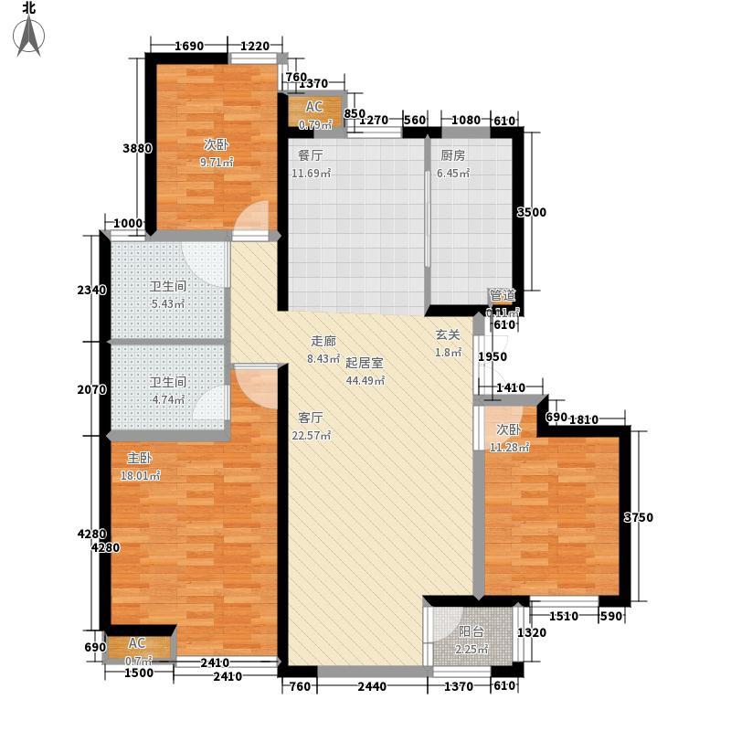 荣盛阿尔卡迪亚118.00㎡4-2已售完面积11800m户型
