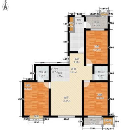 融鑫逸景3室0厅2卫1厨143.00㎡户型图