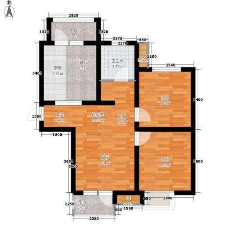 京港国际城2室0厅1卫1厨93.00㎡户型图