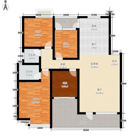 丰景佳园4室0厅2卫0厨156.00㎡户型图