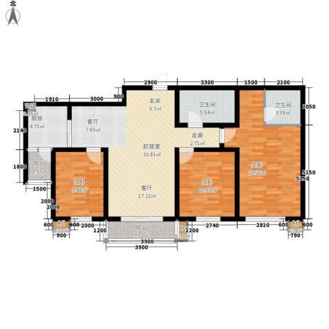 太乙嘉园3室0厅2卫1厨133.00㎡户型图