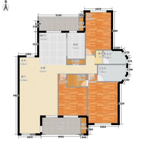 阳光聚宝山庄臻园3室1厅2卫1厨171.00㎡户型图