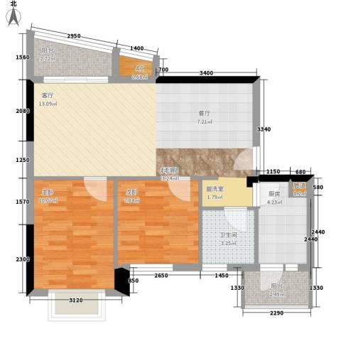金碧花园都市广场2室0厅1卫1厨78.00㎡户型图
