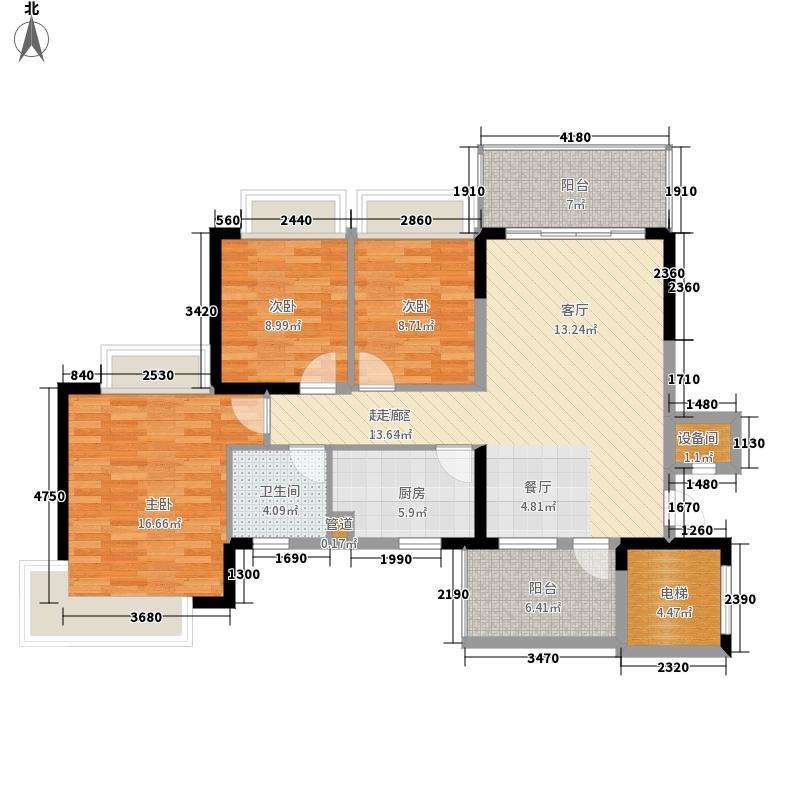 恒大雅苑109.00㎡5号楼3-18层4户面积10900m户型