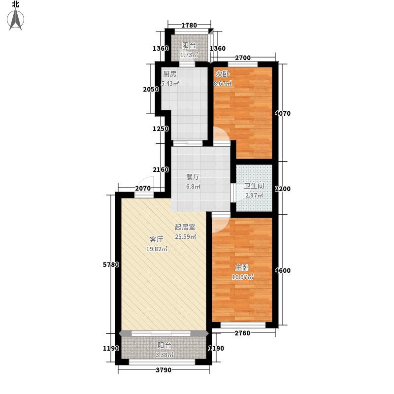 罗马公元103.54㎡使用面积户型2室1厅