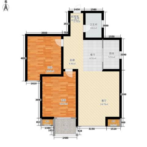 丽都花园2室0厅1卫1厨100.00㎡户型图