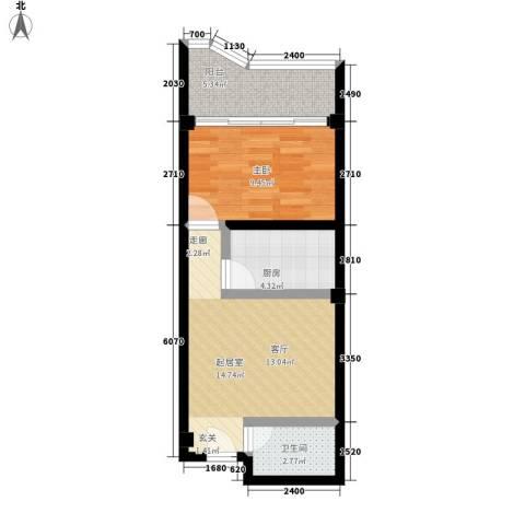 侨诚花园1室0厅1卫1厨44.00㎡户型图