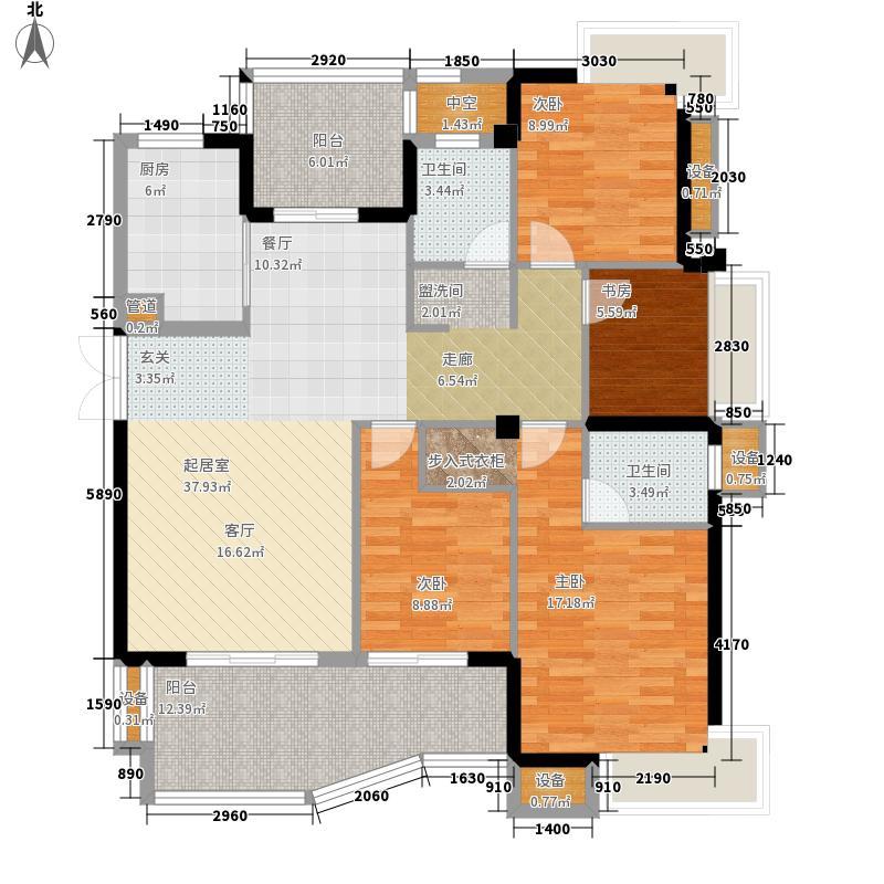 三盛国际公园146.00㎡剑桥区标准层A户型