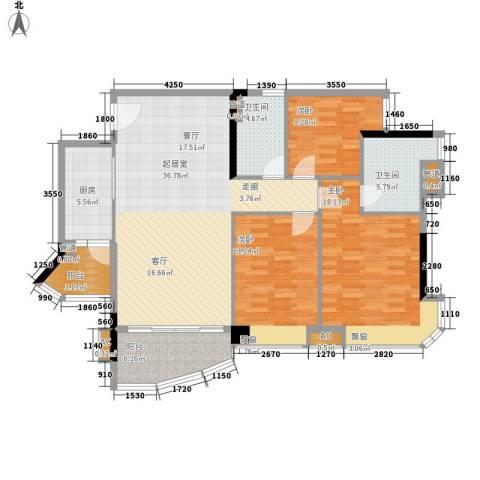 东悦雅苑3室0厅2卫1厨116.00㎡户型图